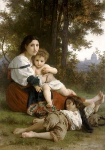 William Adolphe Bouguereau - madre e niños