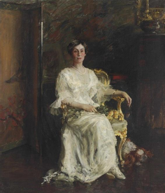 La señora Reeves Eldridge Johnson de William Merritt Chase (1849-1916, United States) | Arte De La Reproducción | WahooArt.com