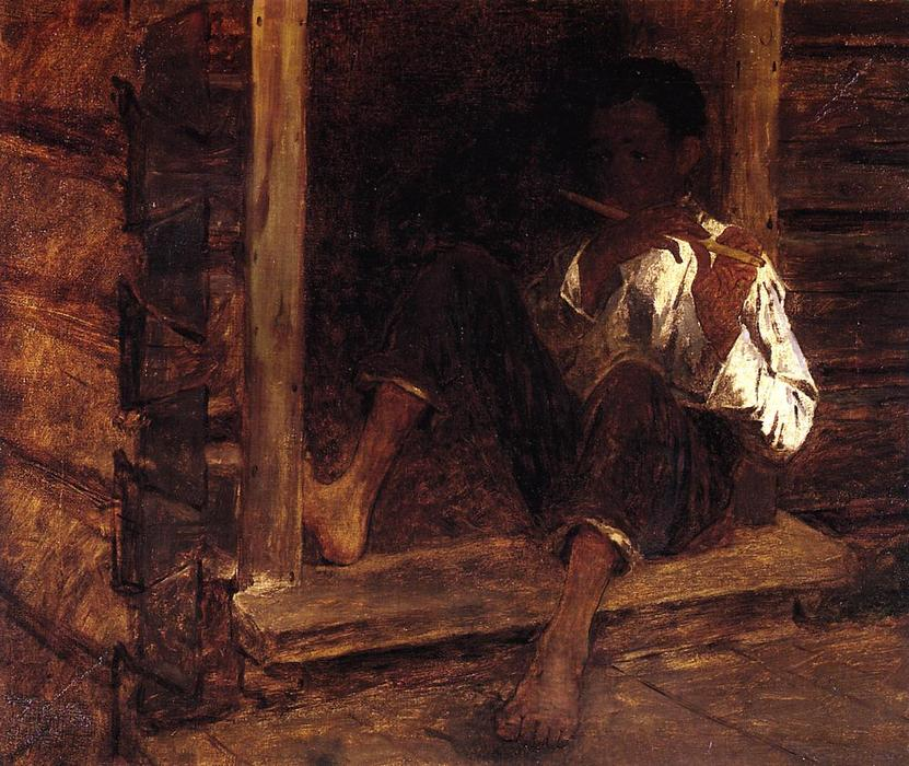 Negro Boy, óleo sobre lienzo de Jonathan Eastman Johnson (1824-1906, United Kingdom)