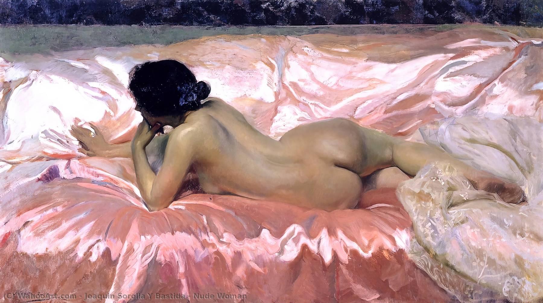 """Mujer desnuda"""", óleo sobre lienzo de Joaquin Sorolla Y Bastida ..."""
