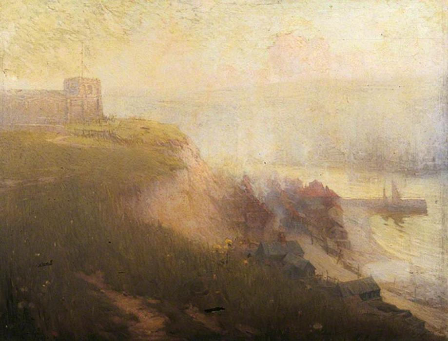 Antiguo Whitby, North Yorkshire, óleo sobre lienzo de Samuel Henry William Llewellyn