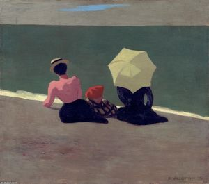 Felix Vallotton - en playa