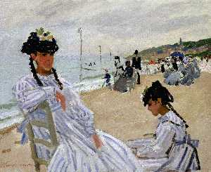 Claude Monet - En la playa en Trouville