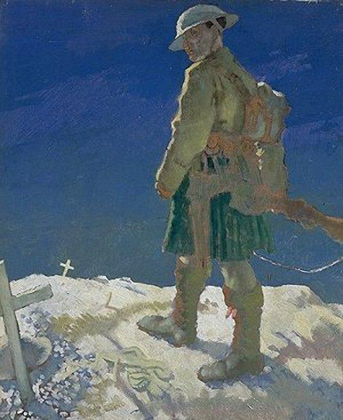 Un espectador en Francia, 1921 de William Newenham Montague Orpen (1878-1931, Ireland)
