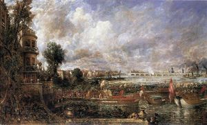 John Constable - la apertura del puente de waterloo visto desde whitehall escaleras , Junio 18th 1817