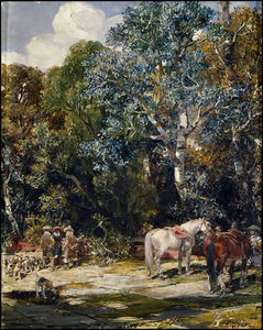 Francisco Domingo Marques - Paisaje en la Romeria