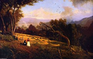 William Keith - Escena pastoral Hillside