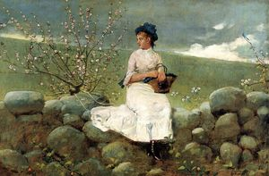 Winslow Homer - Peach Blossoms
