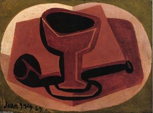 Juan Gris - Pipe and Glass