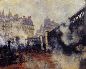 Claude Monet - el pont delaware l'Europe , Saint-Lazare Estación