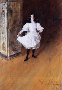 William Merritt Chase - Retrato de la Artist's Hija ( Dorothy )