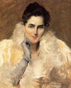 William Merritt Chase - Retrato de una dama