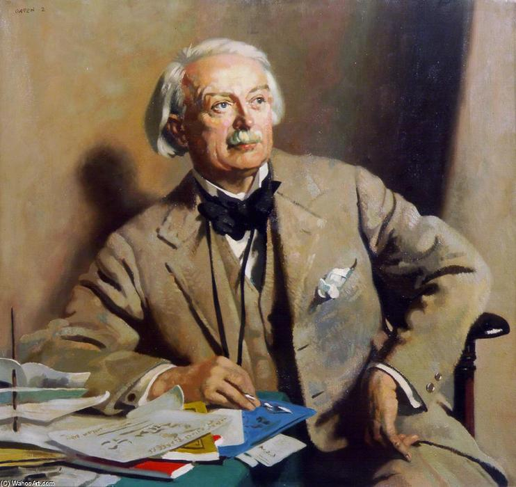 Botas retrato of el rt . Hon . David lloyd George, óleo sobre lienzo de William Newenham Montague Orpen (1878-1931, Ireland)
