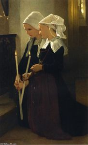 William Adolphe Bouguereau - Oración en Sainte-Anne-d Auray