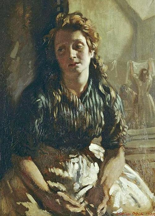 de descanso, óleo sobre lienzo de William Newenham Montague Orpen (1878-1931, Ireland)
