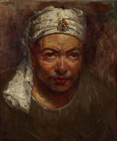 óleo sobre lienzo de Jose Navarro Llorens (1867-1923, Spain) - Jose-Navarro-Llorens-Retrato