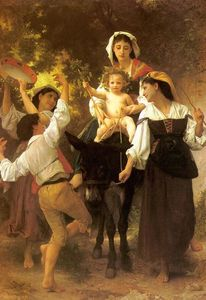 William Adolphe Bouguereau - Retorno de la Cosecha