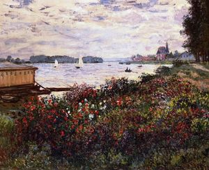 Claude Monet - Riverbank en Argenteuil