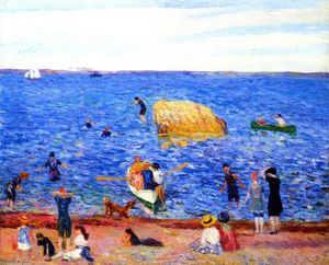 William James Glackens - Rock in la bahía , Wickford