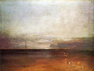 William Turner - rocoso bahía con figuras
