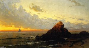 Alfred Thompson Bricher - Vista Marina Atardecer en
