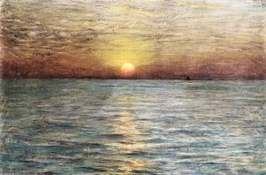 Dwight William Tryon - el mar Atardecer en
