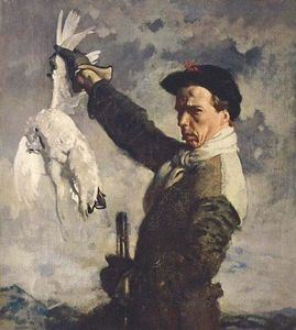 William Newenham Montague Orpen - autorretrato el  muerto  Perdiz nival