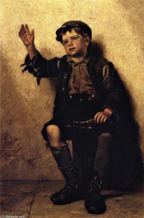 Shine Sir?, óleo sobre lienzo de John George Brown (1831-1913, United Kingdom)