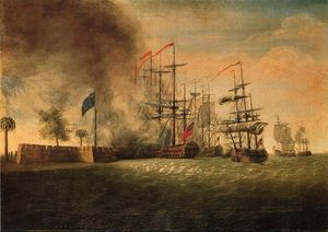 James Peale - Ataque de Sir Peter Parker contra Fort Moultrie