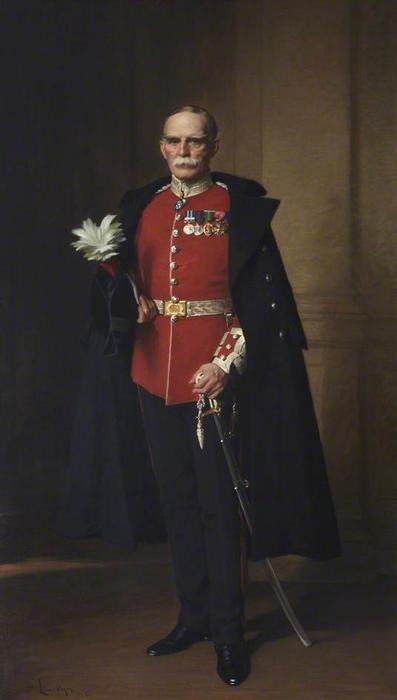 Sir Ralph William Anstruther de Balcaskie, óleo sobre lienzo de Samuel Henry William Llewellyn