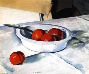 Francis Campbell Boileau Cadell - Bodegón tomates