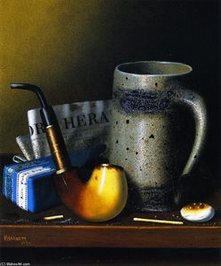 William Michael Harnett - Still Life with Tubo and Nuevagalesdelsur York Herald