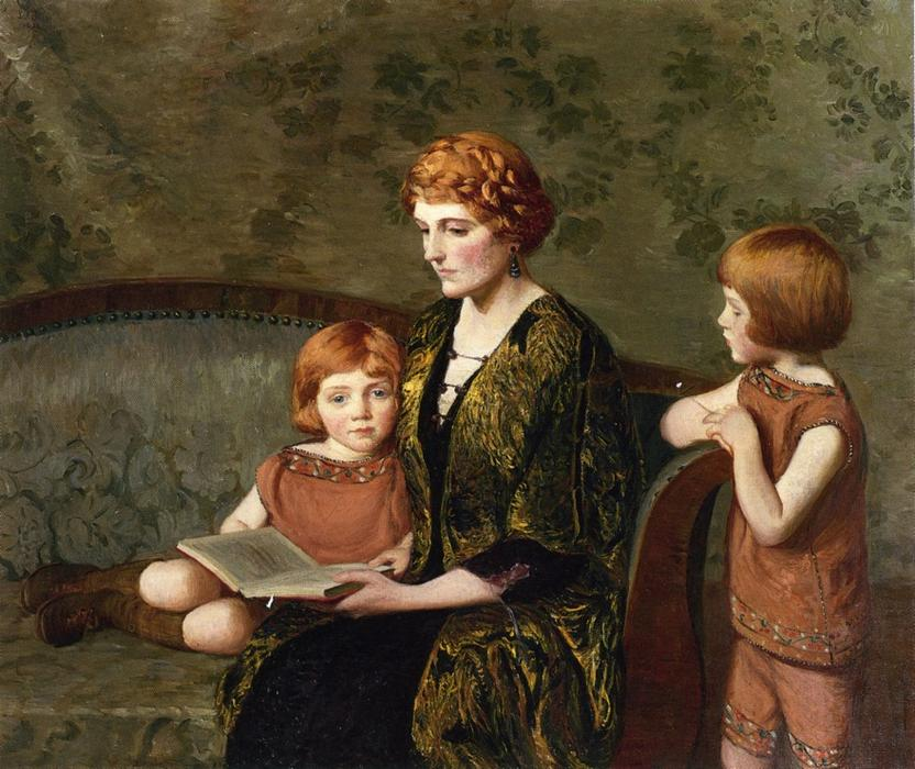 La historia hora, 1921 de Lilla Cabot Perry (1848-1932, United States) | Reproducciones De Arte Del Museo Lilla Cabot Perry | WahooArt.com