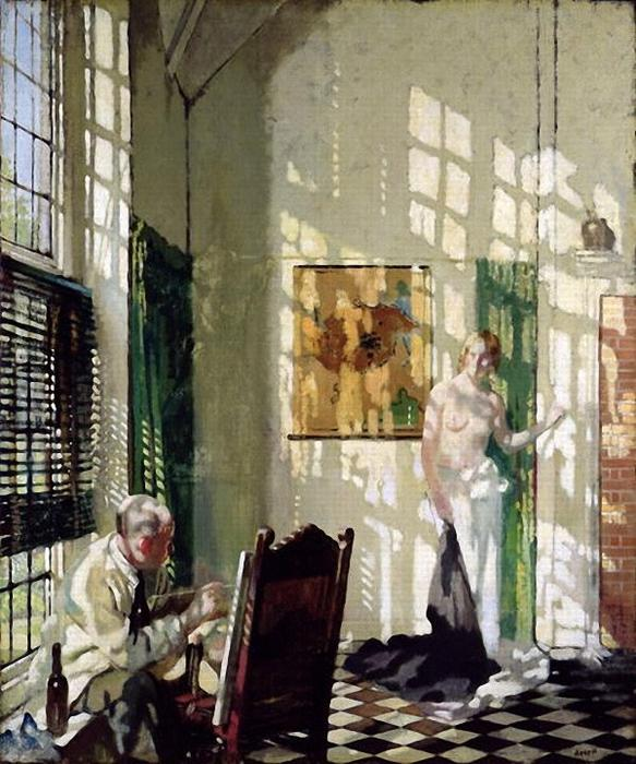el estudio de William Newenham Montague Orpen (1878-1931, Ireland)