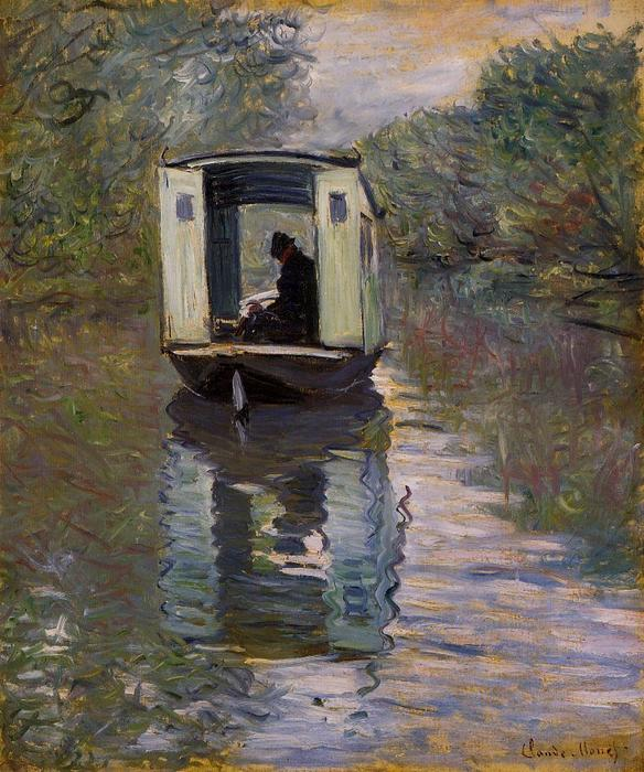 The Boat Studio, óleo sobre lienzo de Claude Monet (1840-1926, France)