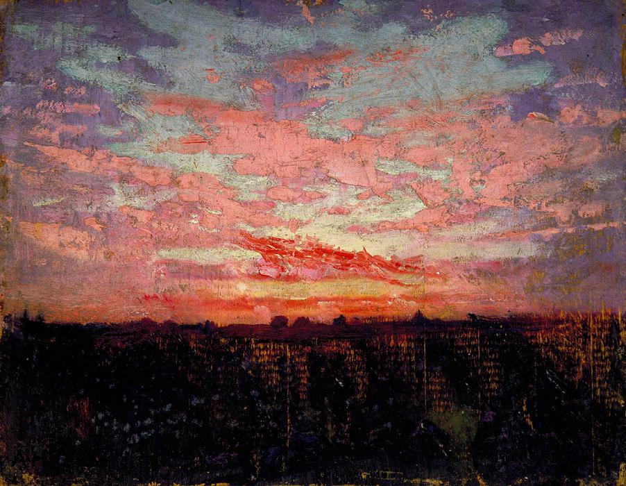 Atardecer en, 1905 de Abbott Handerson Thayer (1849-1921 ...