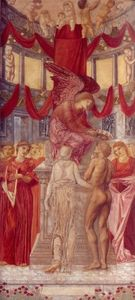 Edward Coley Burne-Jones - el templo todaclasede  amor