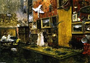 William Merritt Chase - La Décima Street Studio (también conocido como Tenth Street Studio)