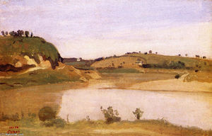 Jean Baptiste Camille Corot - el tíber miope Roma