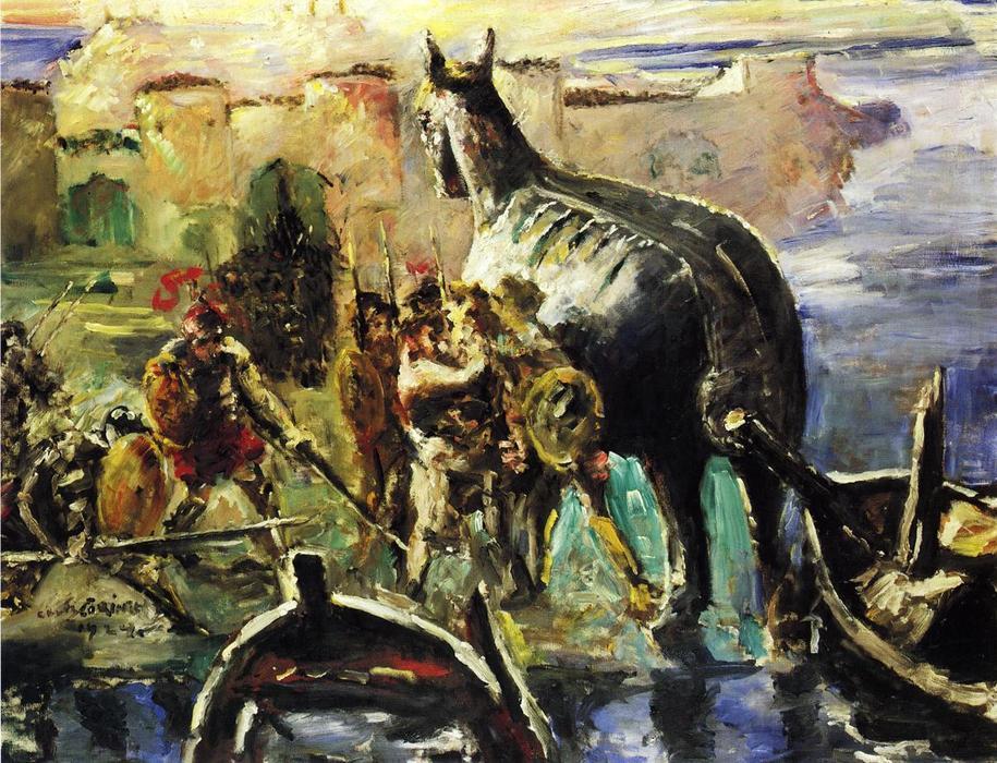El caballo de Troya, óleo sobre lienzo de Lovis Corinth (Franz ...