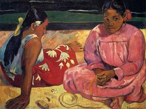 Paul Gauguin - dos mujeres en la playa