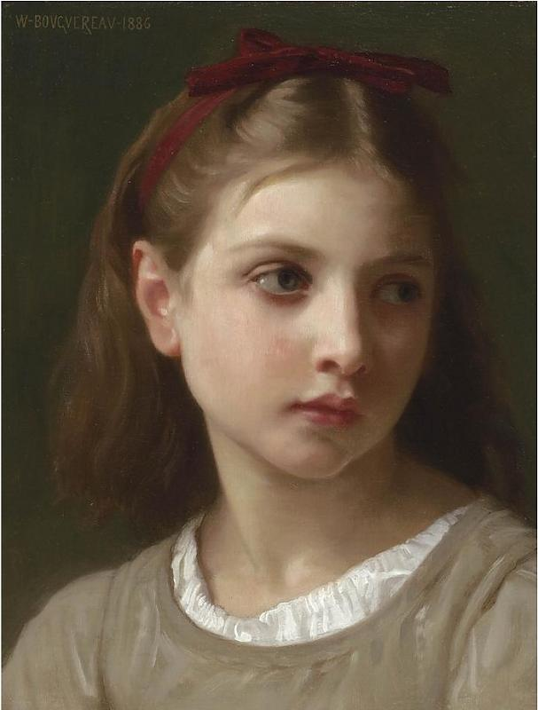 Une petite fille, 1886 de William Adolphe Bouguereau (1825-1905, France)