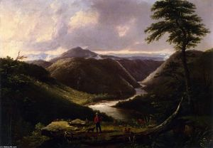 Thomas Worthington Whittredge - Vista desde la Hawk's Nido , occidental virginia , Mañana