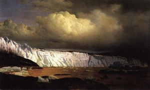 William Bradford - Vista del glaciar Sermitsialik