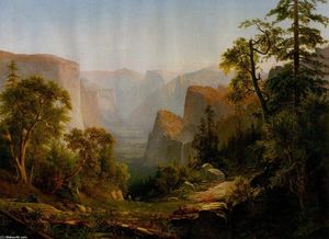 Thomas Hill - Vista de la valle de yosemite , en california