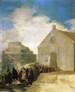 Francisco De Goya - Village Procesión
