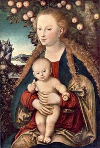 Lucas Cranach The Elder - virgen y el niño