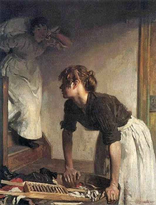 El lavado de Casa de William Newenham Montague Orpen (1878-1931, Ireland) | Copia De La Pintura | WahooArt.com