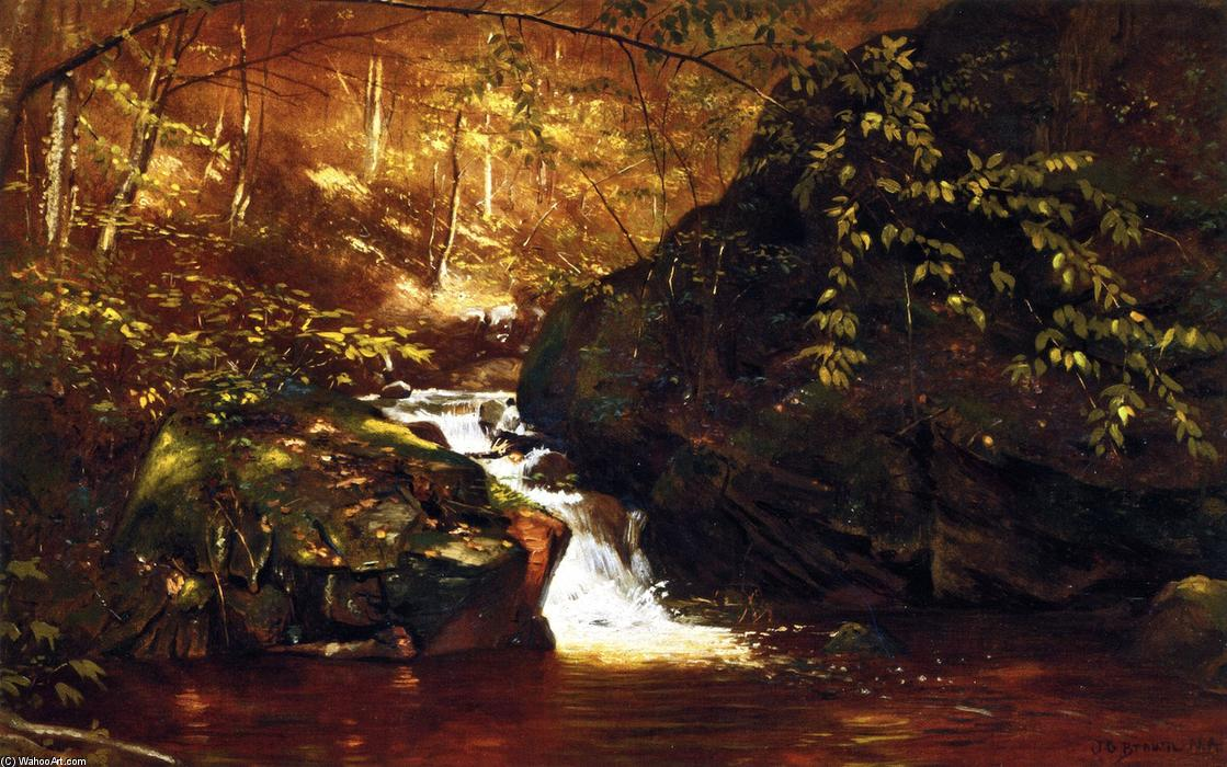Catarata , Huntington , Massachusetts, 1874 de John George Brown (1831-1913, United Kingdom) | WahooArt.com