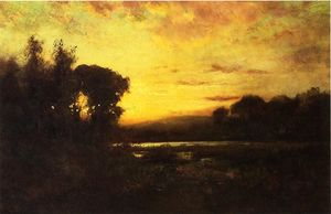 William Keith - Humedales en el Sunset